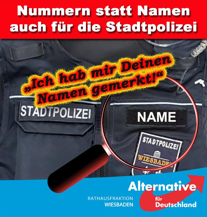 AFD-FRAKTION FORDERT BESSEREN SCHUTZ DER STADTPOLIZISTEN