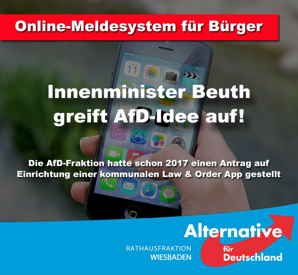 HESSISCHER INNENMINISTER BEUTH GREIFT AFD-ANTRAG AUF