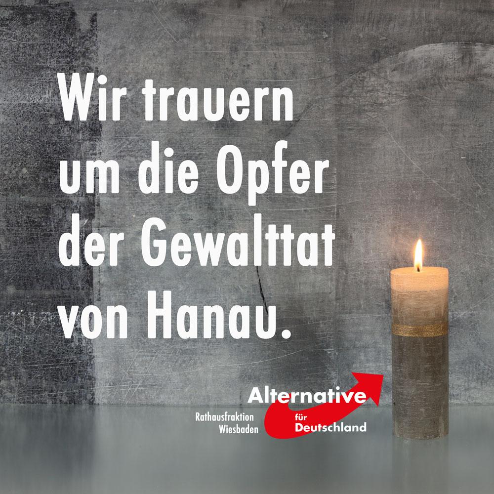 Tauer um die Opfer von Hanau