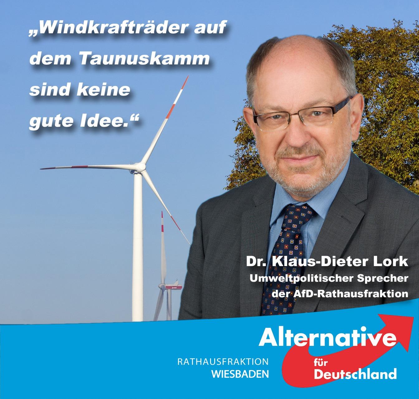 Windkraftanlagen auf dem Taunuskamm…