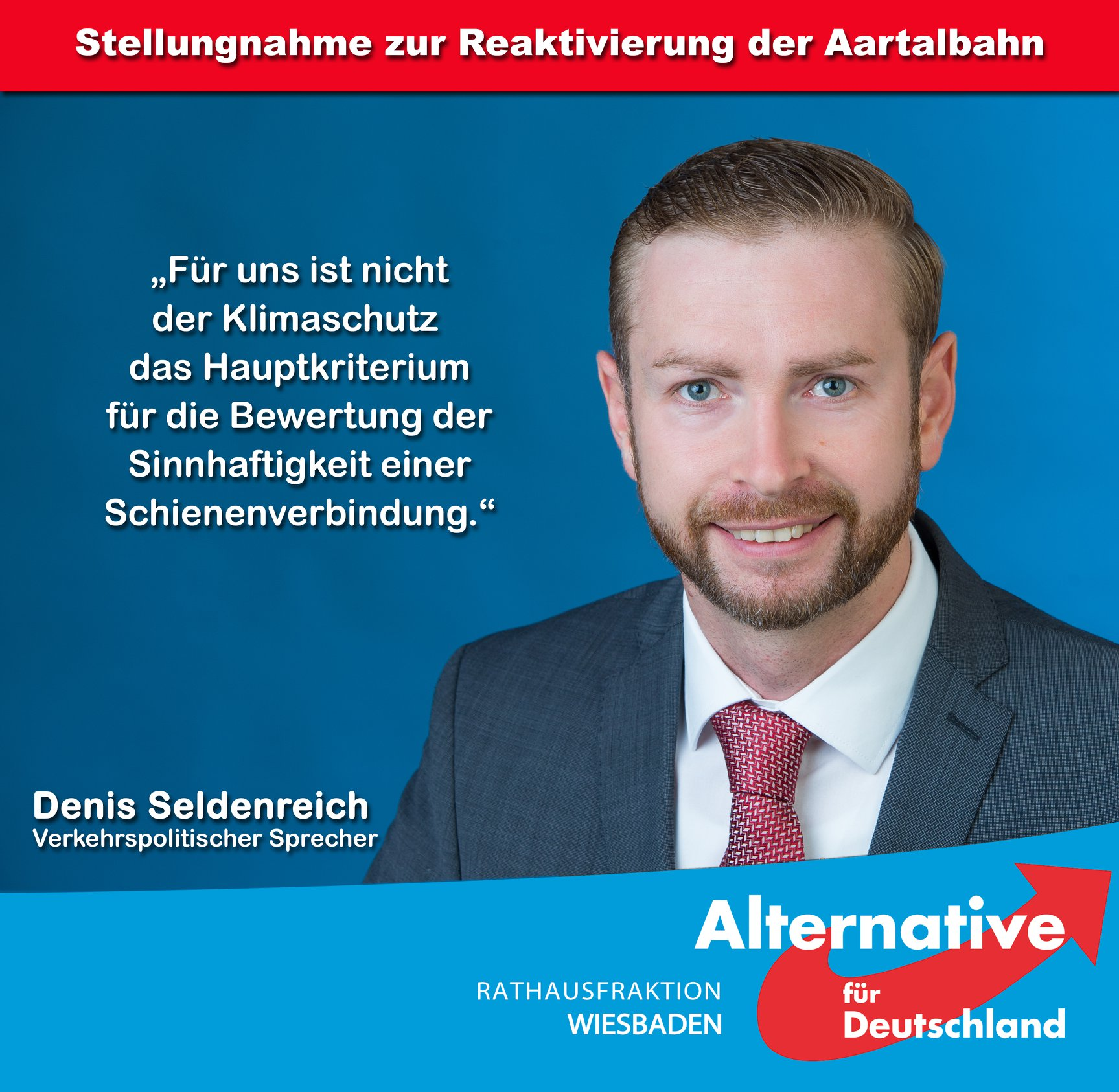 Stellungnahme – Bürgerinitiative zur Reaktivierung der Aartalbahn