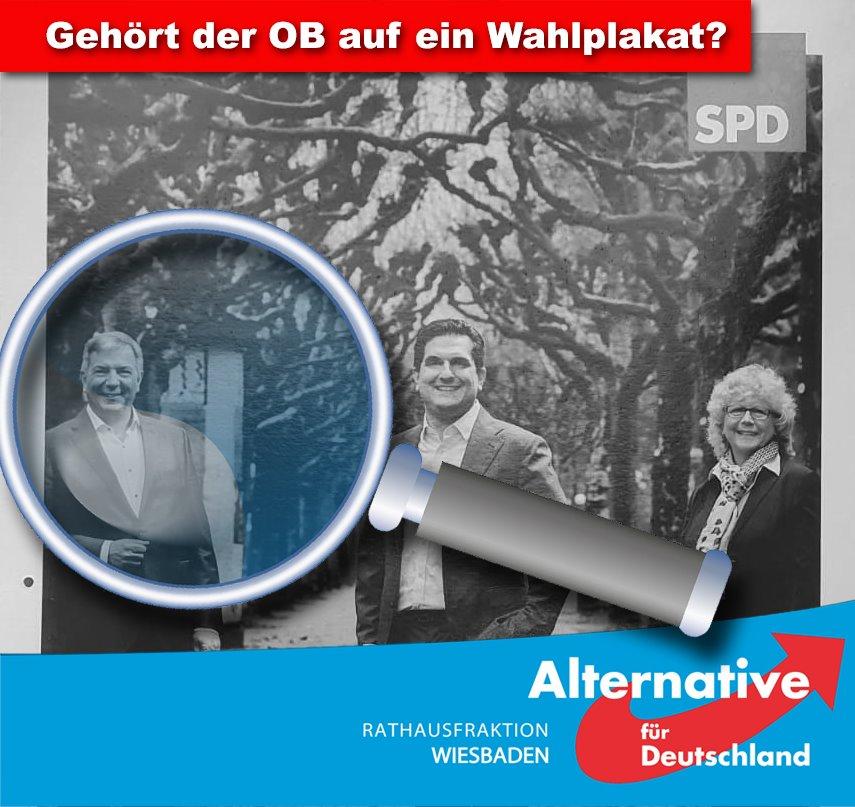 AFD-FRAKTION KRITISIERT WAHLPLAKAT DER SPD MIT OB MENDE